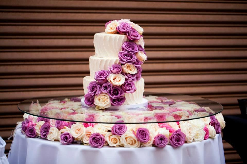 Glass Mirror Floral Cake Table Wedding Cake Table Wedding Cake Table Decorations Glamorous Wedding Cakes