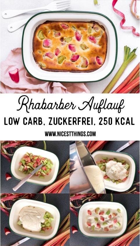 Rhabarber Auflauf Low Carb, kalorienarm und zuckerfrei - Nicest Things