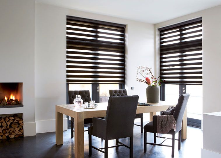 Dining Room Curtains Window Treatments Budget Blinds Beautiful Traditional Design With Two Story Windows Round