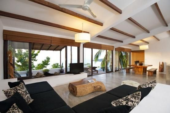 Home Design, Living Room Of Modern Tropical Homes Design: Modern