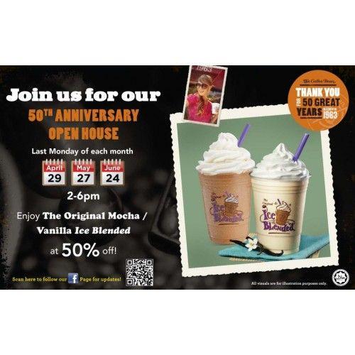 The Coffee Bean Tea Leaf 50th Anniversary Promotion Tea Leaves Coffee Beans 50th Anniversary