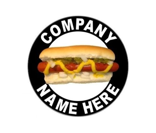 2 12 034 Personalized Hot Dog Cart Or Truck Decals With Your