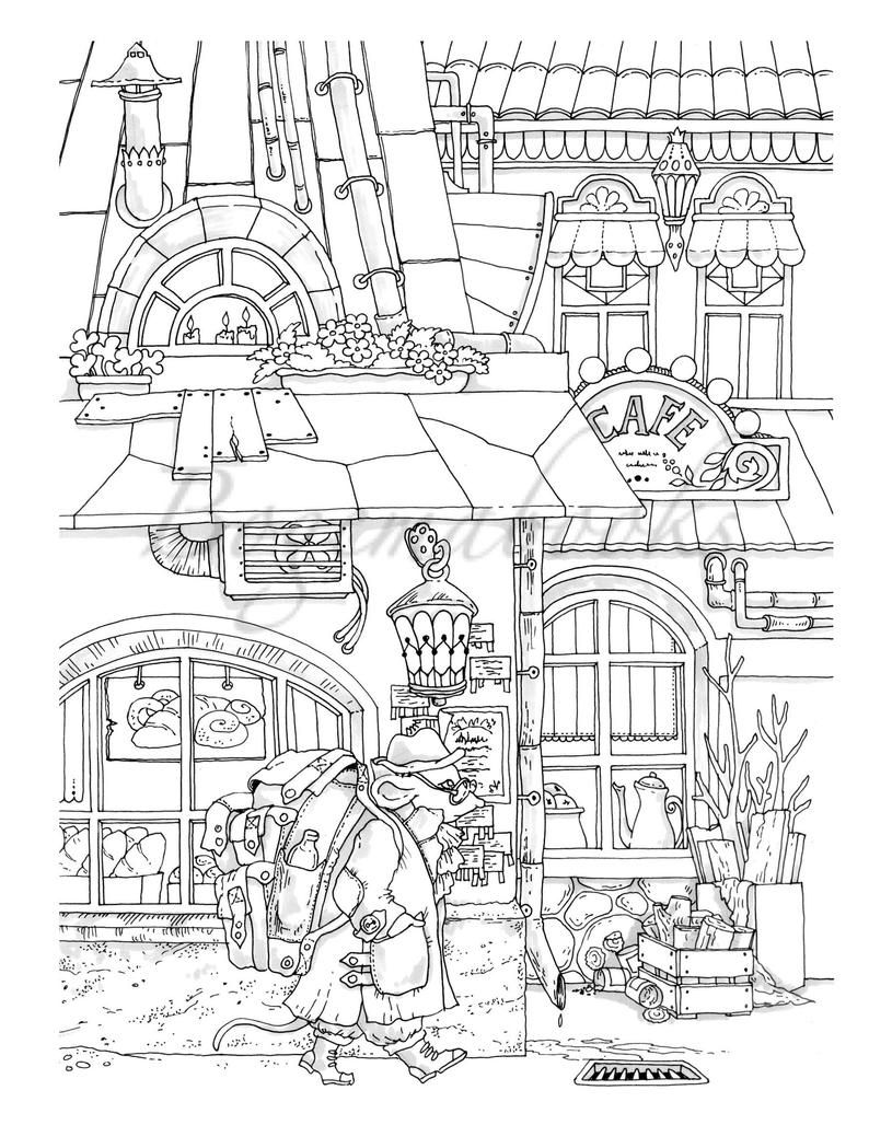 Nice Little Town 8 Adult Coloring Book Coloring Pages Pdf