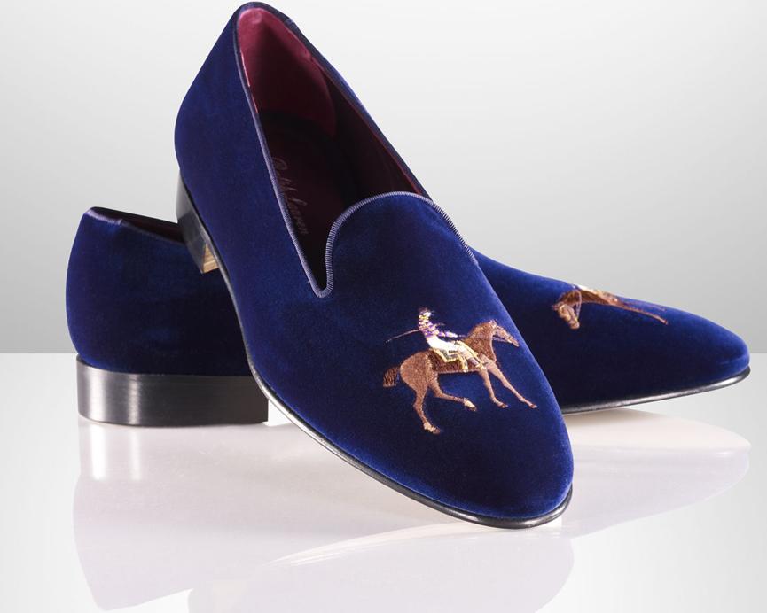 Ralph Lauren Collis Velvet Horse Slippers  18cf79ebb0262