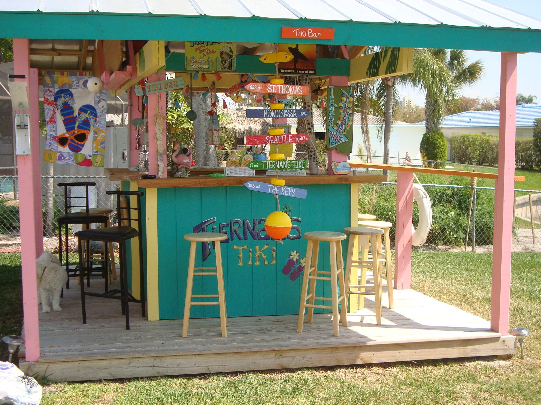 Key west style tiki hut for sale 569 000 included is a 4 for Key west style kitchen designs