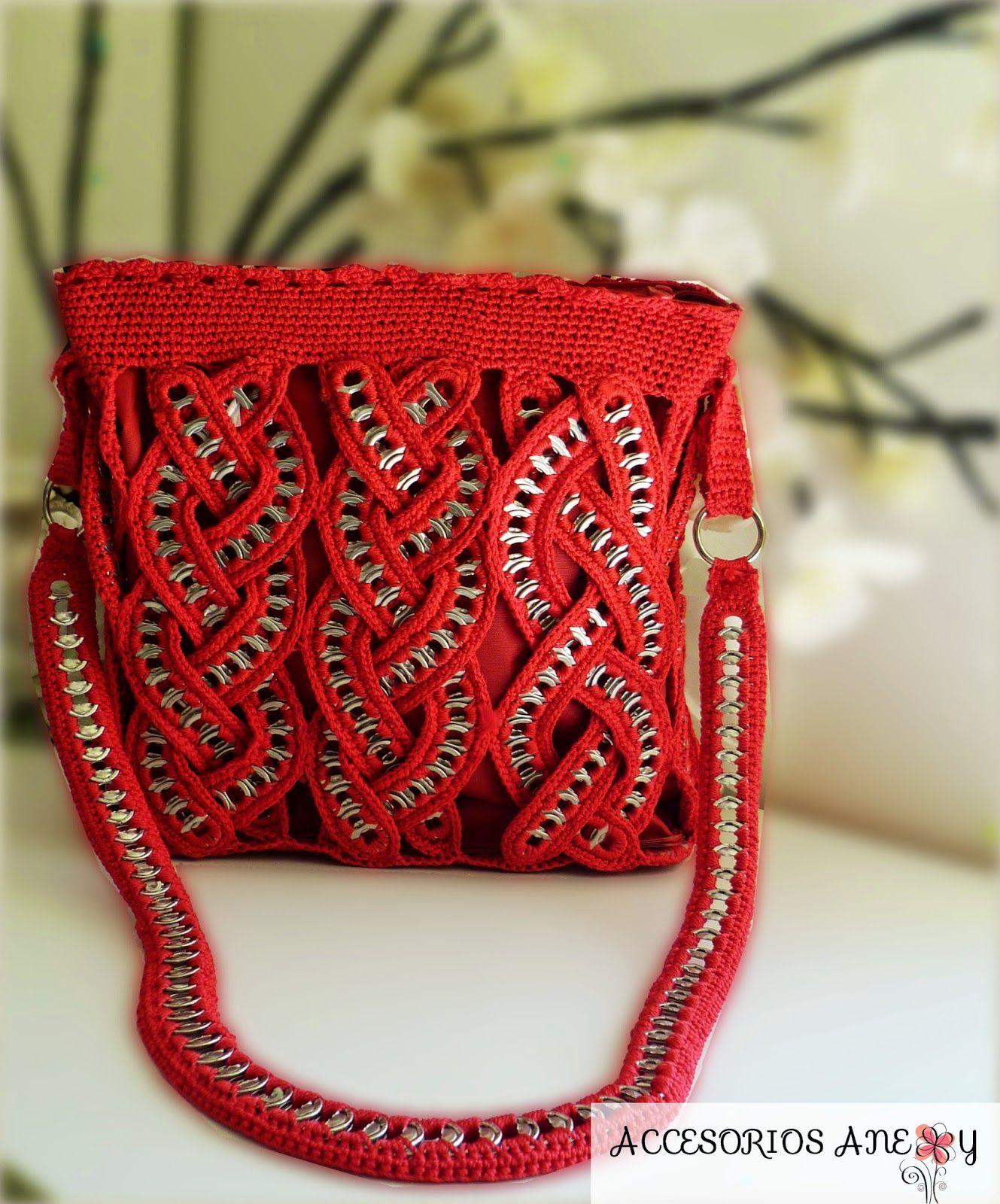 Bolsas modernas tejidas de arillos de lata | #Aguascalientes #Manualidades #DIY