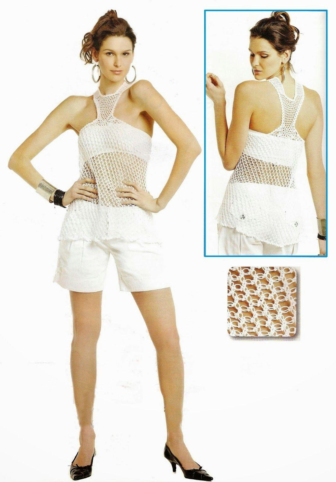 Top Cruz Cruzado Patron Crochet - Patrones Crochet   Crochet Clothes ...