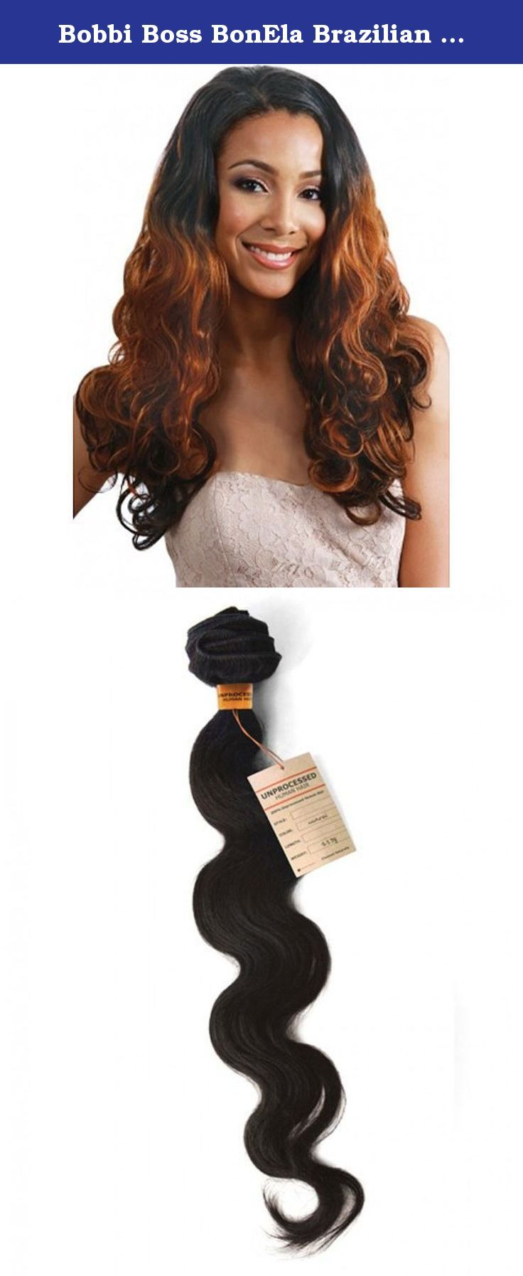 Bobbi Boss Bonela Brazilian Natural Unprocessed Hair Body Wave 16 Bobbiboss