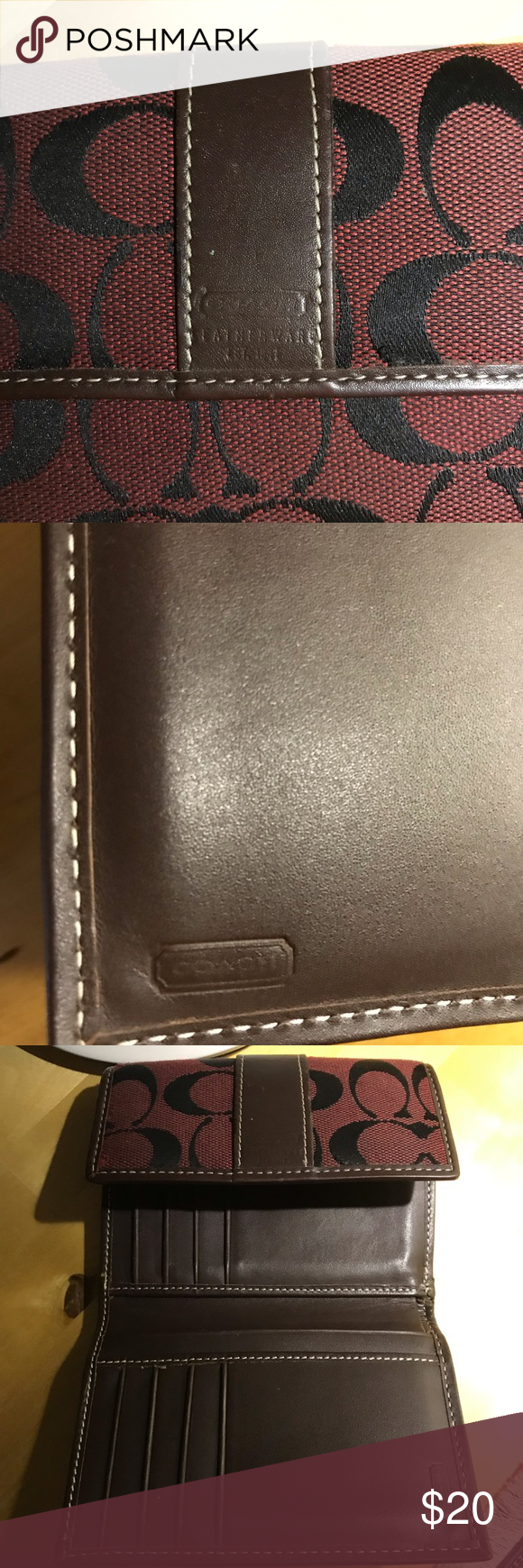 Unique Coach Wallet Euc With Images Coach Wallet