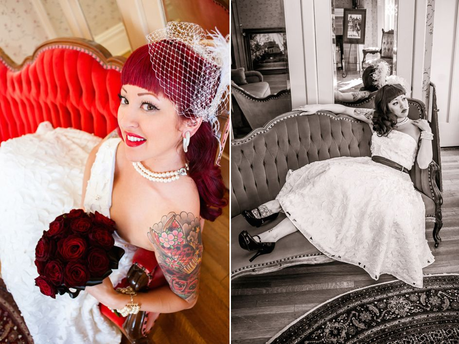 Real #Wedding Wednesday ~ A Tattoo Rockin', Cake Smashing, VintageWedding