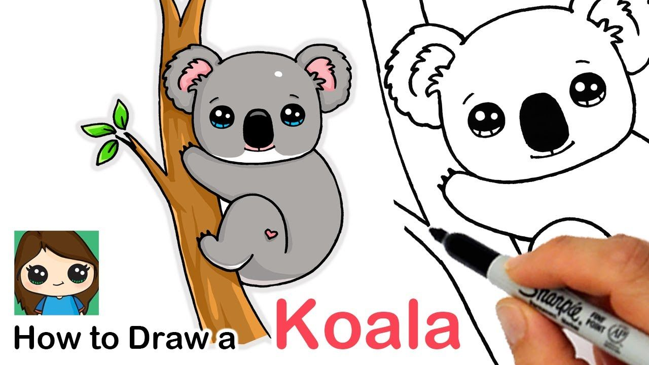 How To Draw A Koala Youtube Koala Drawing Art Drawings For Kids Cute Drawings