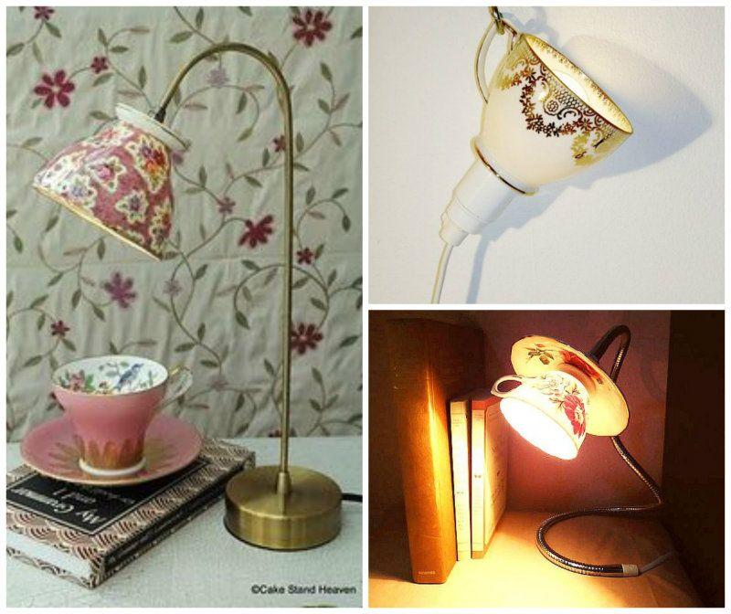 Diy Tea Cup Lamp Tea Cup Lamp Tea Cup Projects Tea Diy