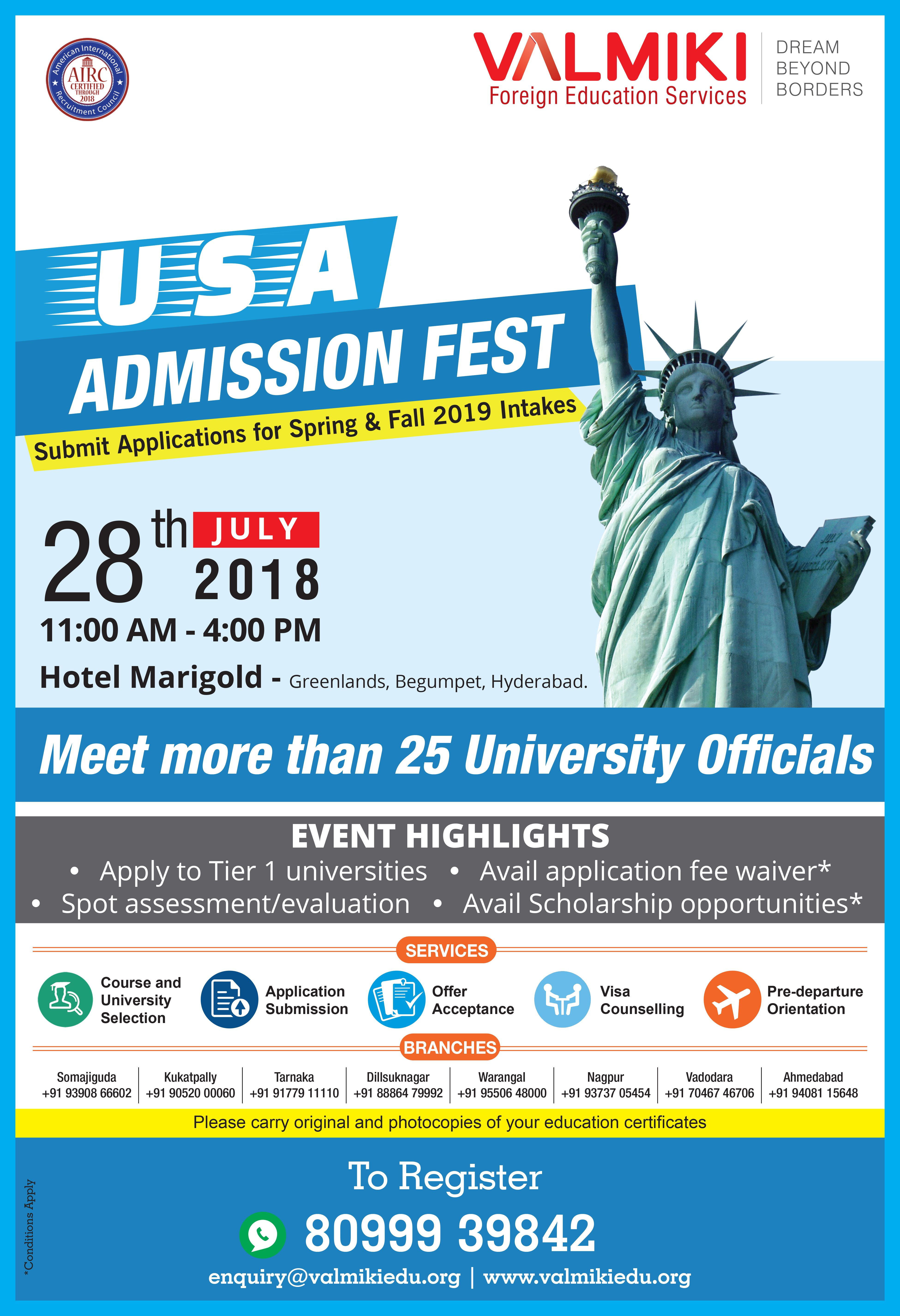 Usa Fest Meet More Than 25 University Officials Valmiki Usa Valmiki Group Usastudyvisa F1students Event Hig Scholarships Global Education How To Apply