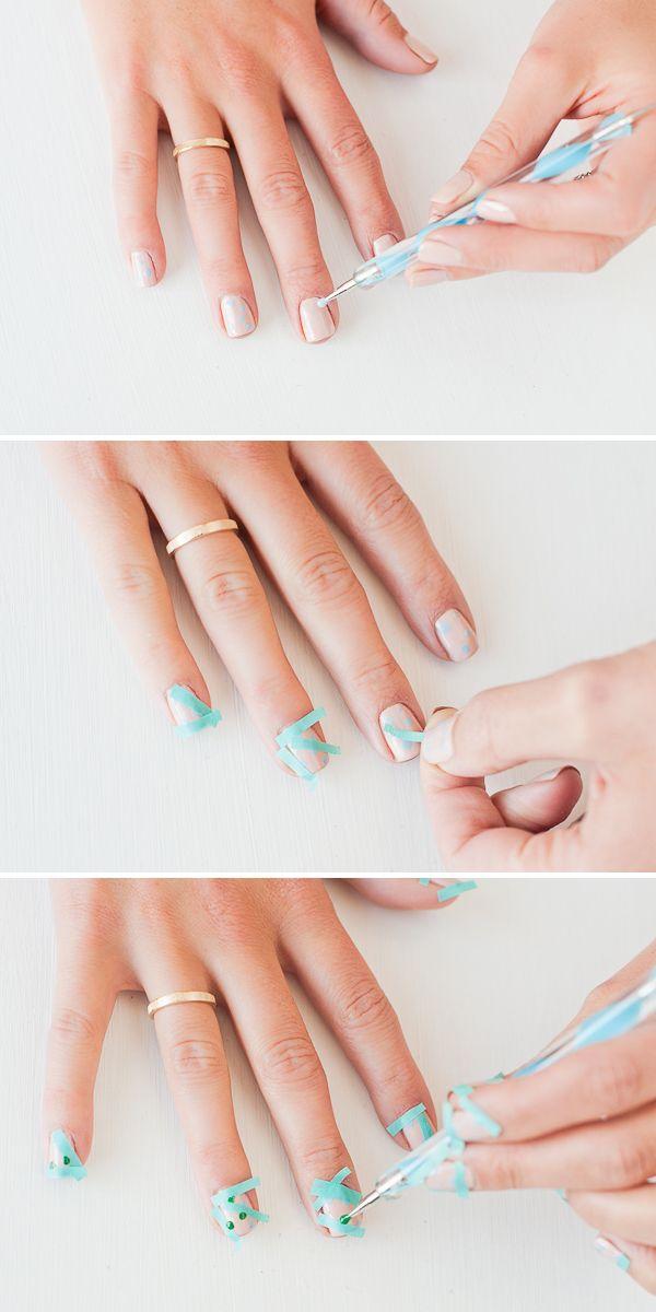 Nail time diy color blocked polka dot nails pinterest summer nail time diy color blocked polka dot nails pinterest summer nail art solutioingenieria Choice Image