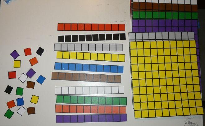 Base 10 Blocks Free Printable Matematiikka