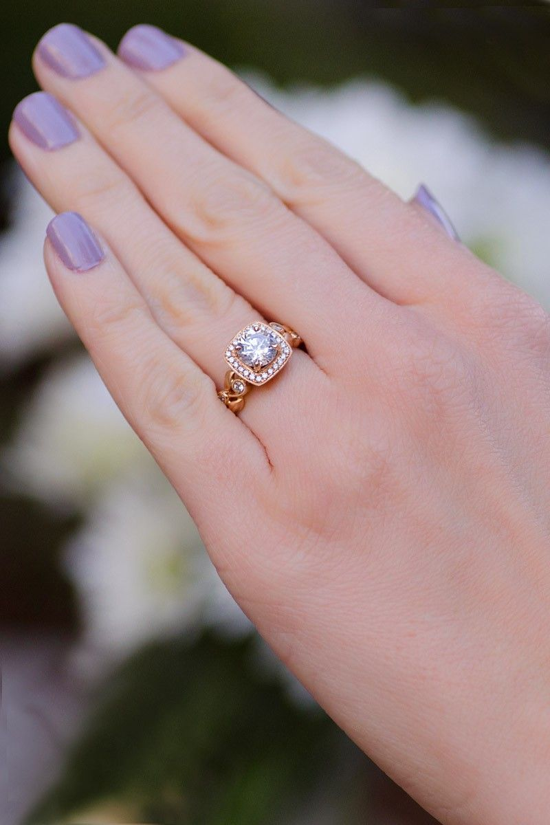 Parade Design Lyria Rose Gold Semi Mount Ring | Oster Jewelers ...