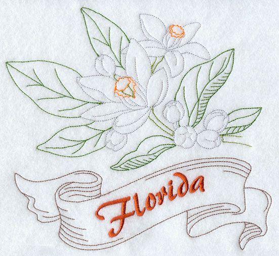 Florida - Orange Blossom (Redwork)