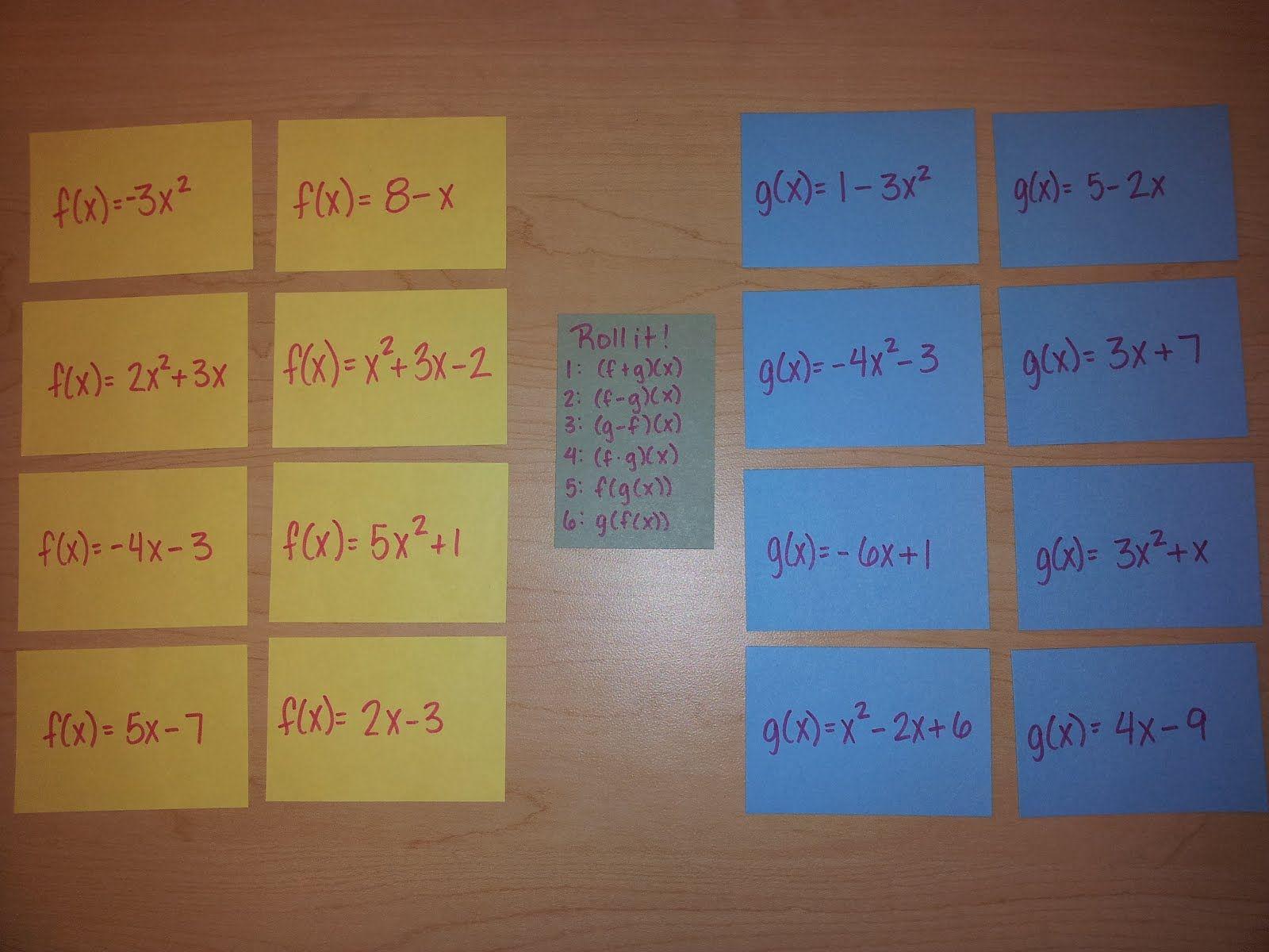 Teaching Statistics Made4math Function Operations School Algebra Teaching Math Teaching Algebra [ 1200 x 1600 Pixel ]
