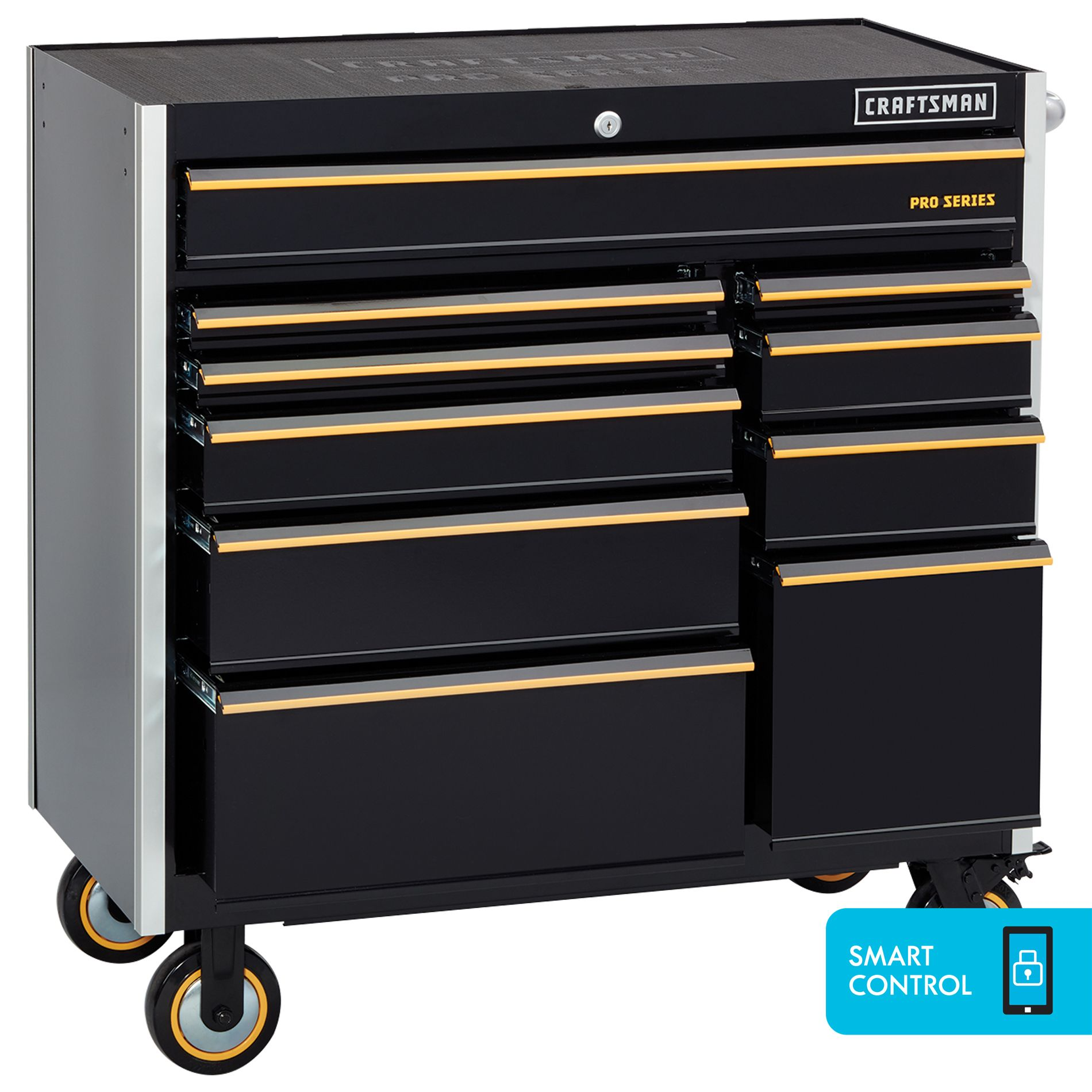 Craftsman Proseries 41 10 Drawer Rolling Cart With Smart Control