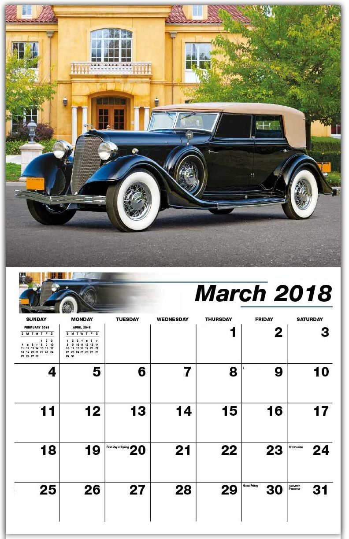 Vintage March 2018 Wall Calendar | MaxCalendars | Pinterest | March ...