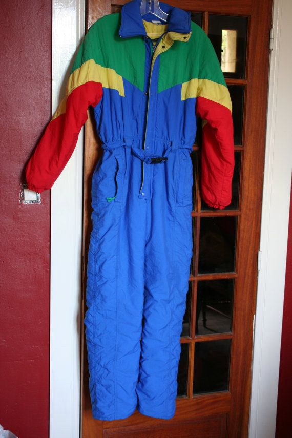 Ski Clothing Ski Suit One Piece Snow Suit Ladies Youths Or Small Mens Vintage Onesie Ski Outfit 80s Clothes Retro Outfits Raincoat Jacket