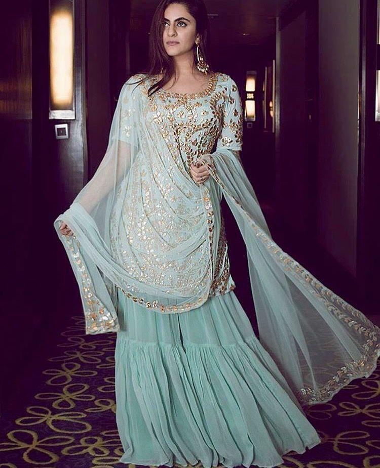 4e600996ac Pinterest: @pawank90 | Traditional | Sharara suit, Indian designer ...