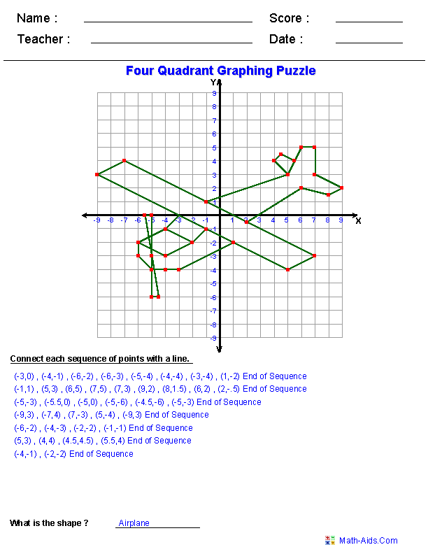 Lots Of Printable Fun Math Worksheets Our Current Thing Is Coordinate Pairs Graphing Worksheets Fun Math Worksheets Geometry Worksheets