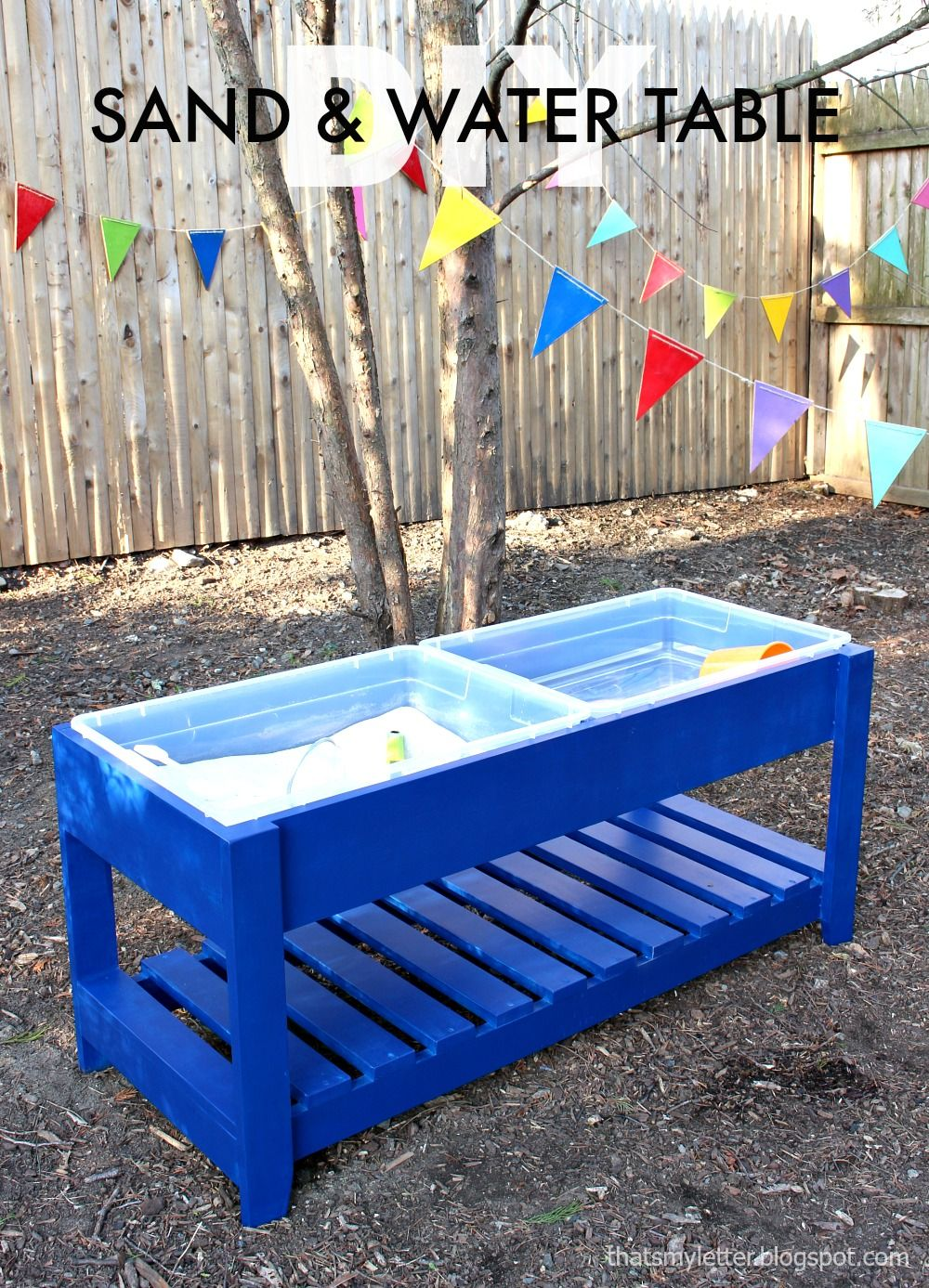Ana white build a sand and water play table free and for Diy sand and water table pvc