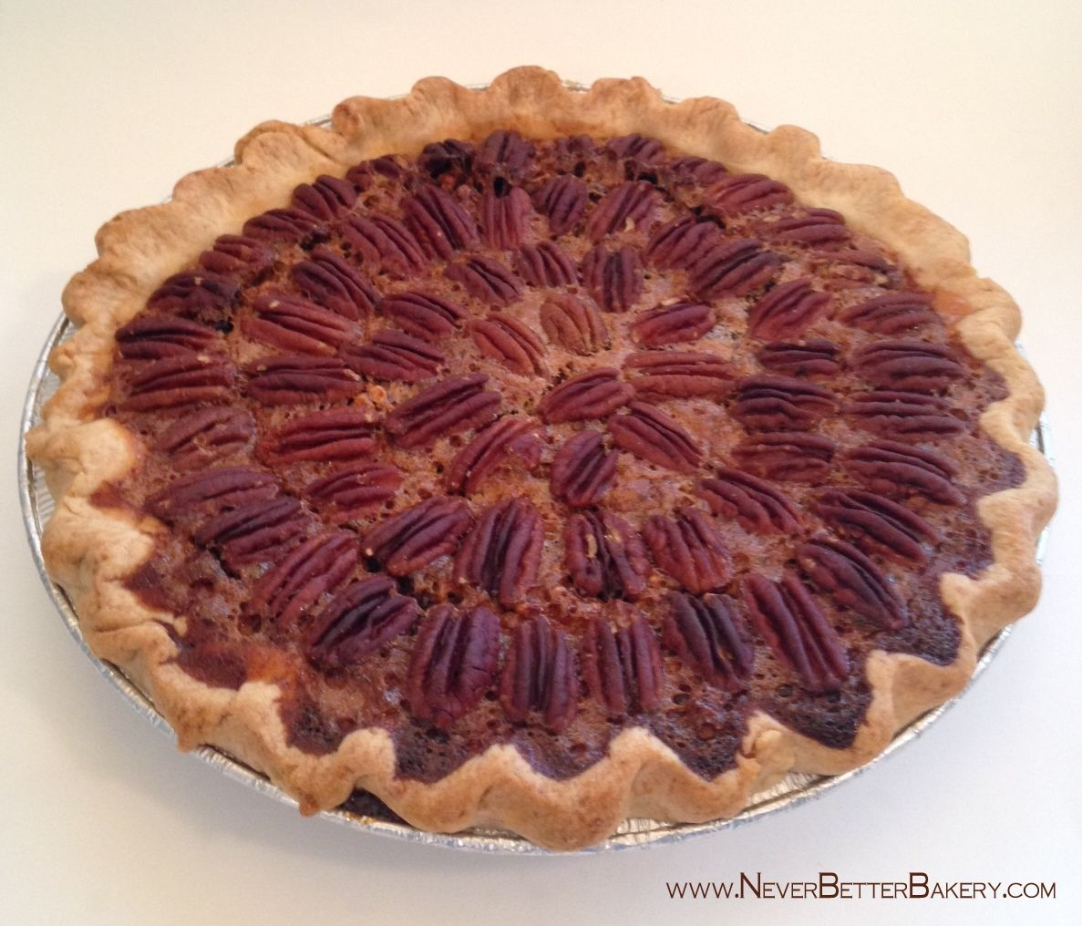 Chocolate Pecan Pie with our homemade buttery crust.