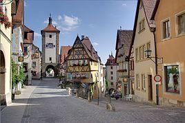 Plönlein with Kobolzeller Steige and Spitalgasse in Rothenburg ob der Tauber