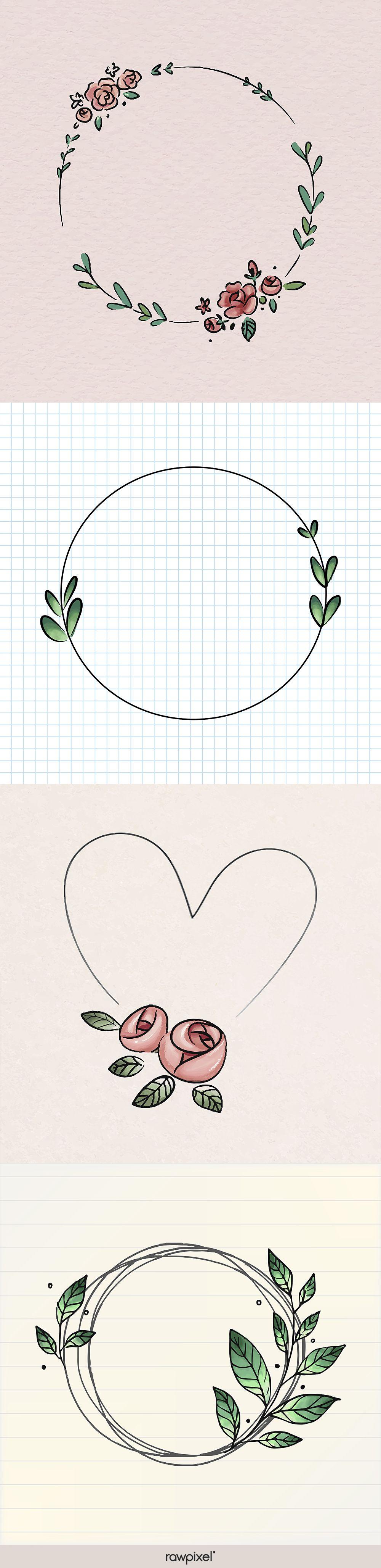 Photo of Free flower doodle vectors