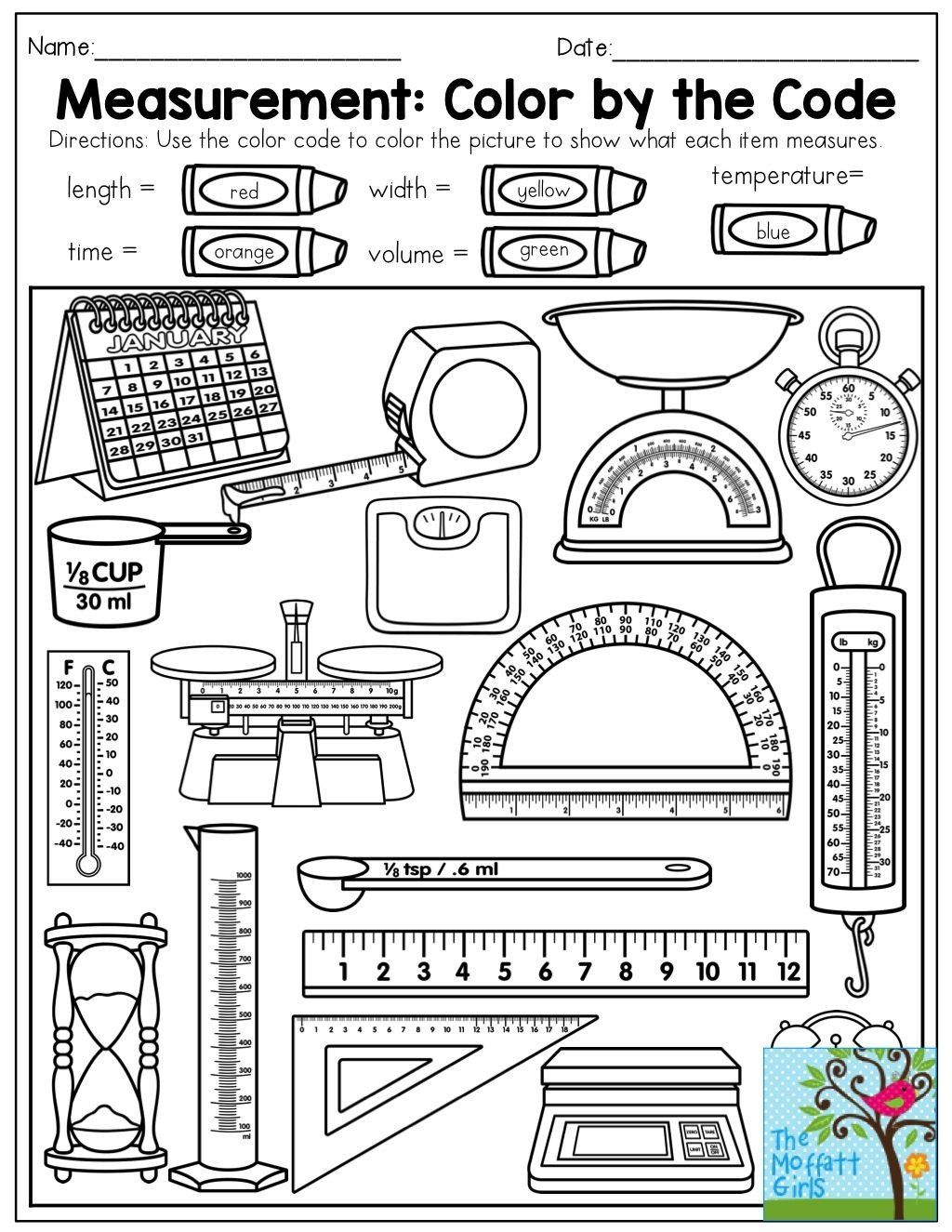 Measurement Worksheet For Kindergarten Free 1st Grade