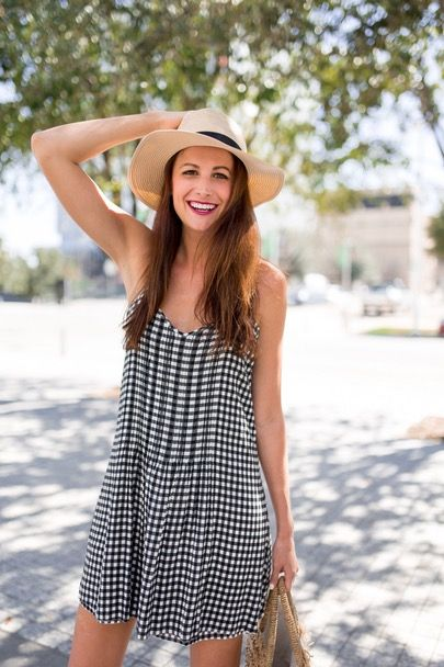 Headed to the airport but I've got a new post up on themilleraffect.com 💕💕!! Head there now to see more pics of this must-have gingham shift dress!! @liketoknow.it http://liketk.it/2qwXr #liketkit