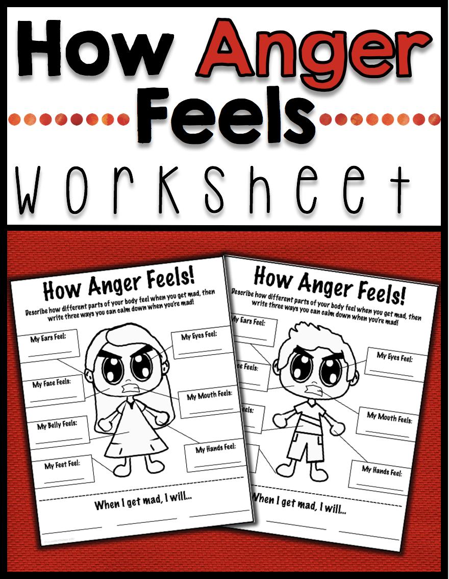 How Anger Feels - Anger Management Worksheet   Anger management ...