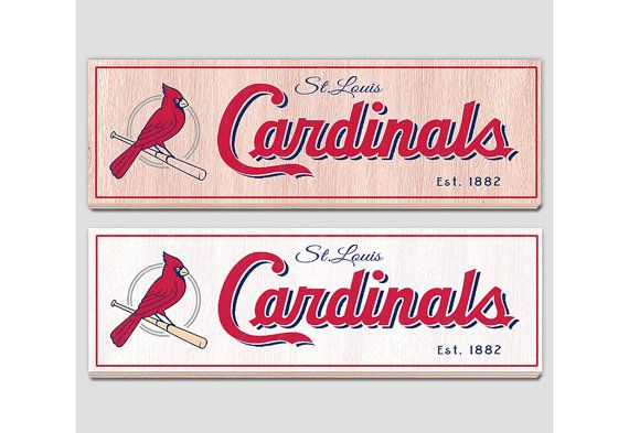 St Louis Cardinals Wood sign 7 x 22 by twoTrainsRunning on Etsy