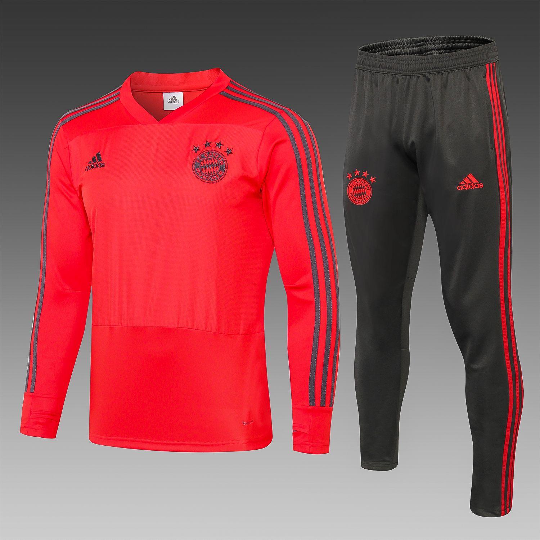 Fc Bayern Munich Football Team Adidas 2018 19 Replica Training Casual Tops Tracksuit Futbol Calcio Soccer Fussball Bnwt Men S Jogging Tracksuit