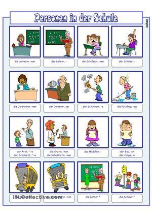 bildw rterbuch personen in der schule german teaching resources german grammar learn german. Black Bedroom Furniture Sets. Home Design Ideas
