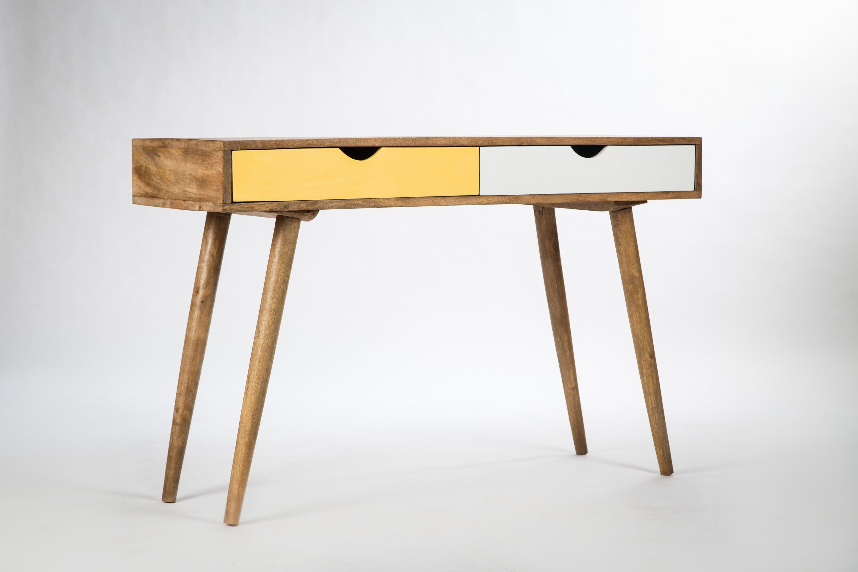 Bureau table design bois scandinave g  study room