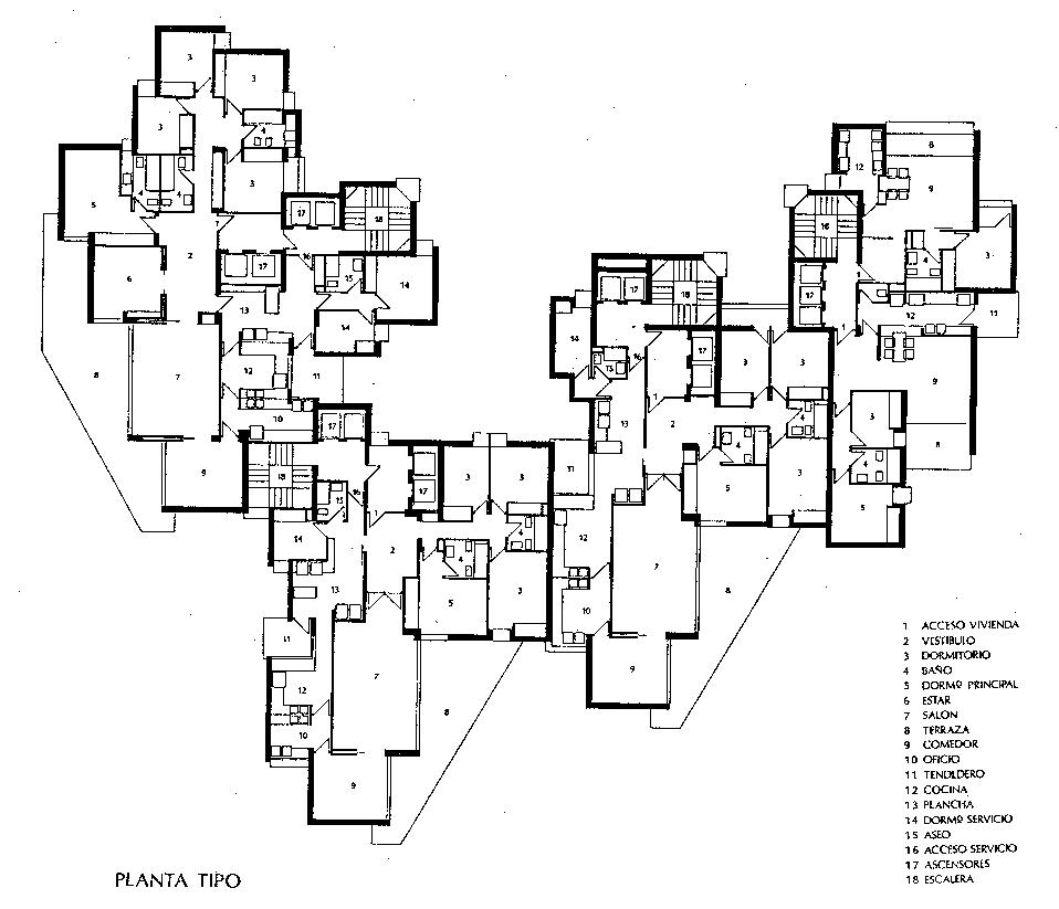 javier carvajal viviendas torre de valencia 1968 ideas for the Egyptian House Diagram javier carvajal viviendas torre de valencia 1968 valencia cluster house affordable housing