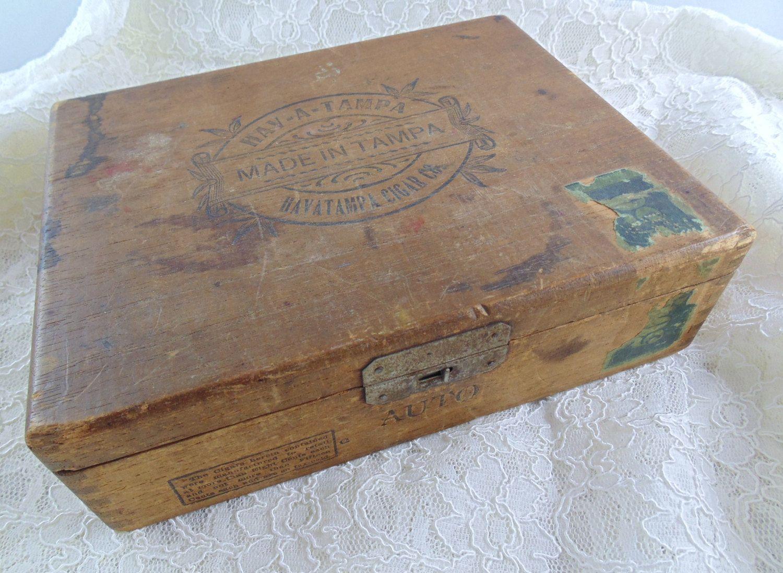 Vintage Wooden Cigar Box Hav A Tampa Stash Box Vintage Finds