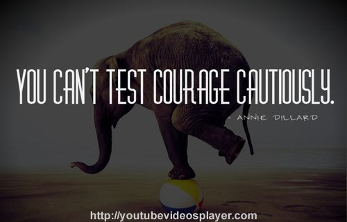courage requires a bold move.....