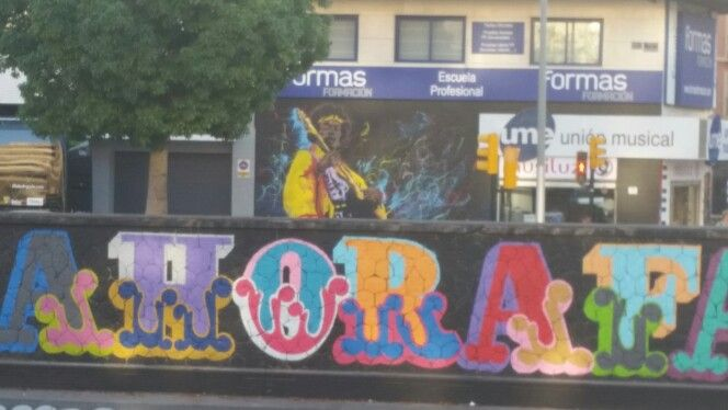 #StreetArt #ArteUrbano#Málaga #MAUS en el Rio Guadalmedina