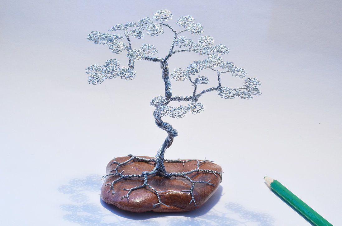 Wire tree sculpture  bonsai by minskis.deviantart.com on @DeviantArt