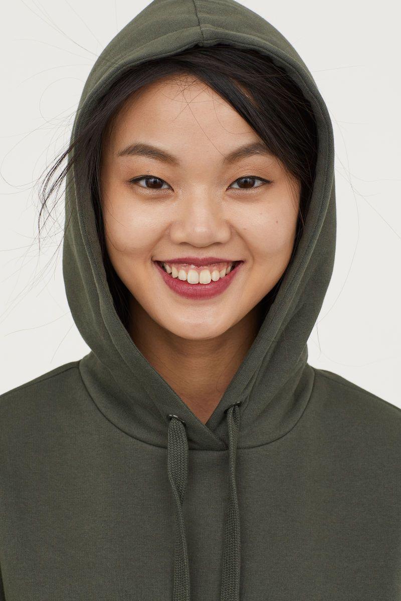 36bad079b Hooded Sweatshirt Dress   Dark green   SALE   H&M US   Clothes ...