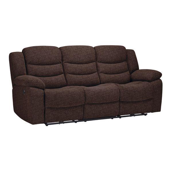 Grayson 3 Seater Electric Recliner Sofa Charcoal Fabric Reclining Sofa Sofa Loveseat Set Sofa