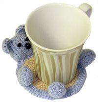 free pattern teddy bear coaster