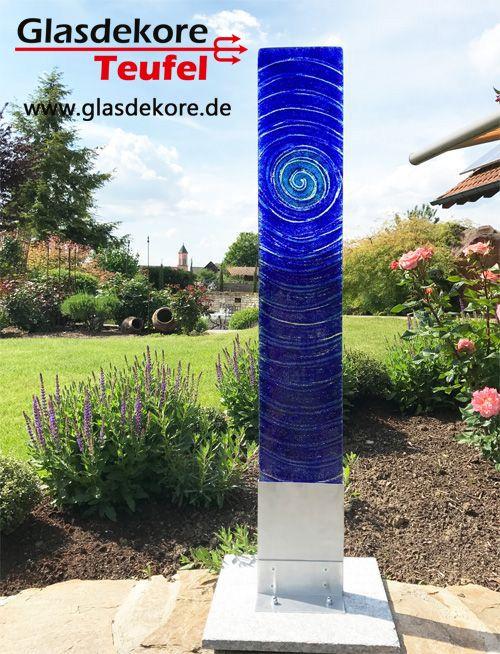 Gartendeko modern Glas im Garten Pinterest