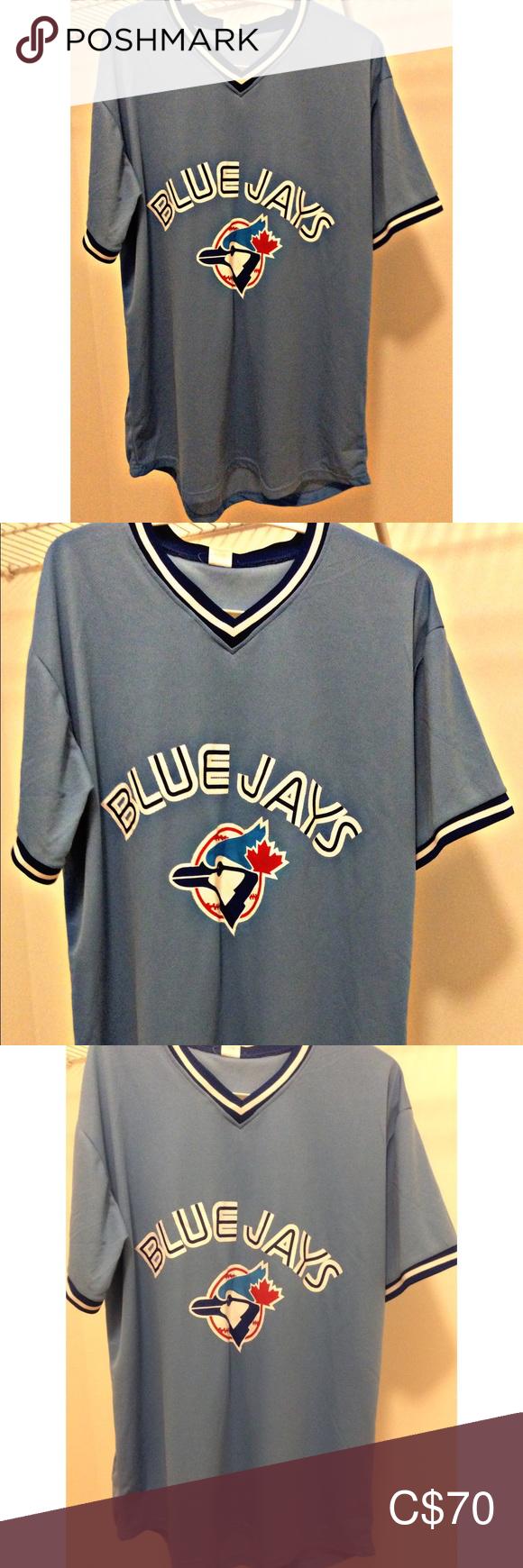 Retro Toronto Blue Jays Powder Blue Jersey Xl Mlb Powder Blue Color Toronto Blue Jays Mens Tops