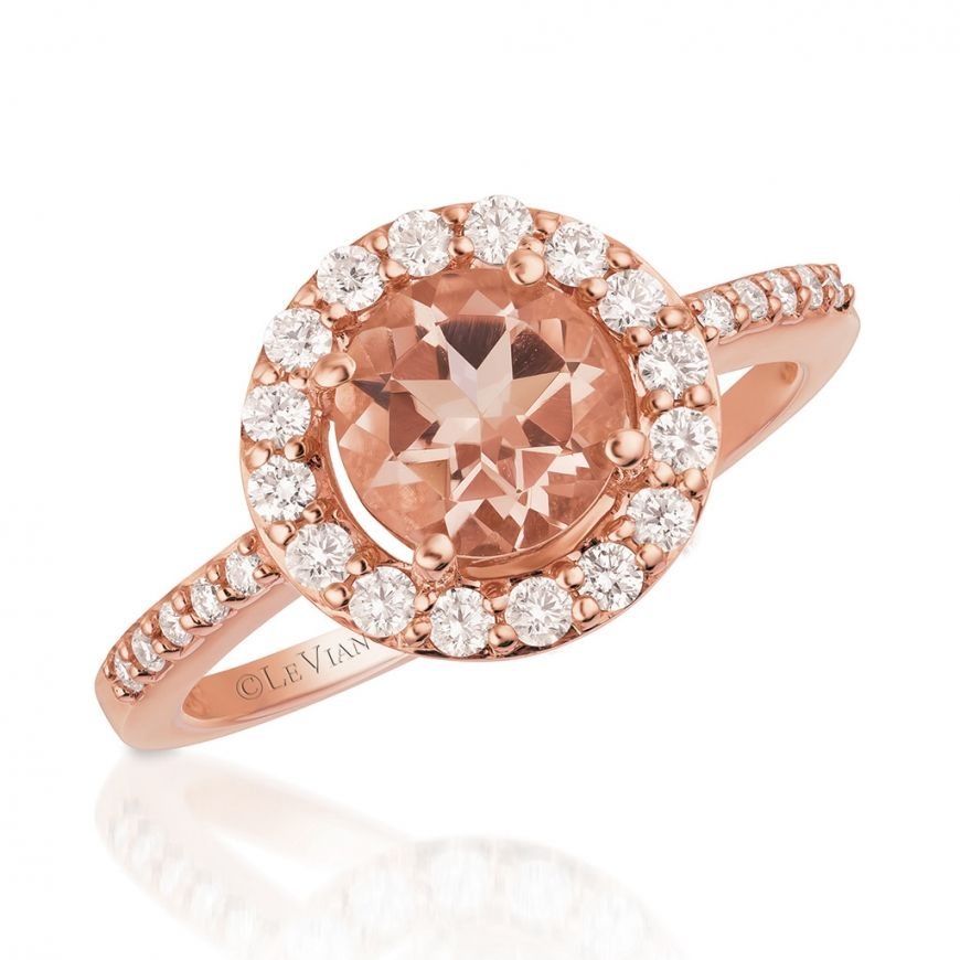 Bremer Jewelry Le Vian Peach Morganite 14k Rose Gold Gemstone and