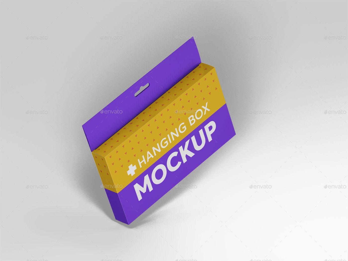 Download Hanging Wide Rectangle Box Mockups Box Mockup Box Packaging Design Graphic Design Tutorials